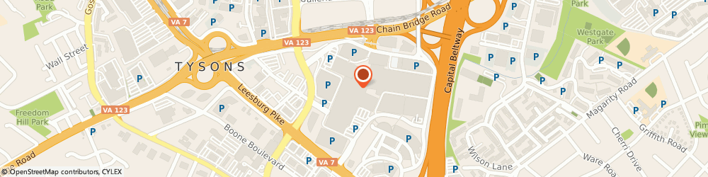 Route/map/directions to Express, 22102 Mclean, 801 1L Tysons Corner Ctr.