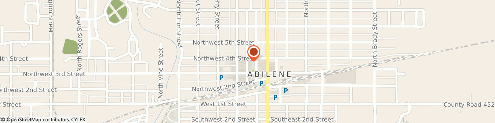 Route/map/directions to Barbieri Insurance Services, 67410 Abilene, 323 NORTH BROADWAY STREET
