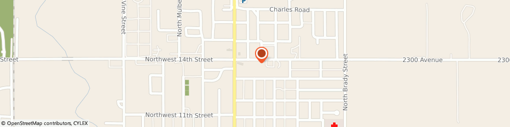 Route/map/directions to H&R Block, 67410 Abilene, 208 NE 14th