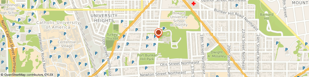 Route/map/directions to St Francis Hall, 20017 Washington, 1340 Quincy St NE