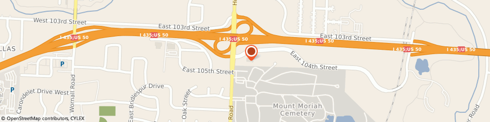 Route/map/directions to US BANK, 64131 Kansas City, 10401 HOLMES RD