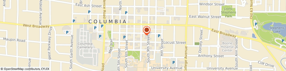 Route/map/directions to Bank Of America Mortgage Mortgage Office, 65201 Columbia, 800 EAST CHERRY STREET