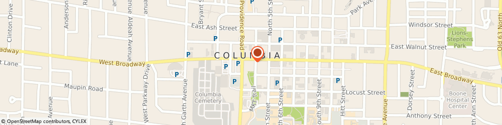 Route/map/directions to Real Property Group, 65201 Columbia, 11 S 4th St