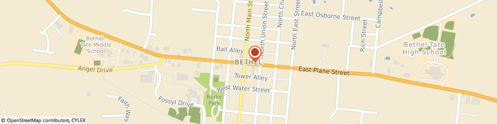 Route/map/directions to KeyBank Bethel, 45106 Bethel, 200 W Plane St