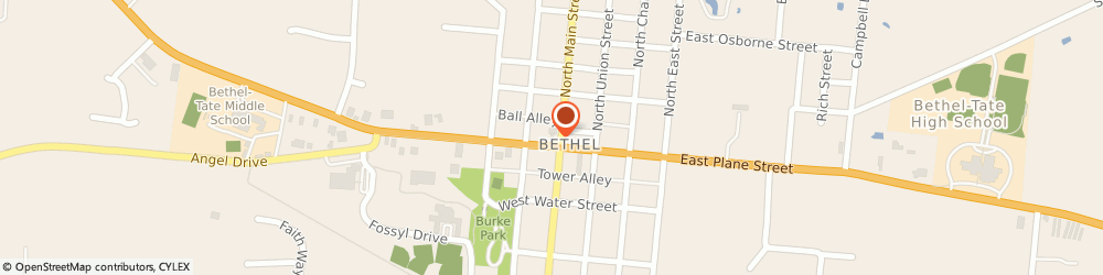 Route/map/directions to bp, 45106 Bethel, 308 W Plane St
