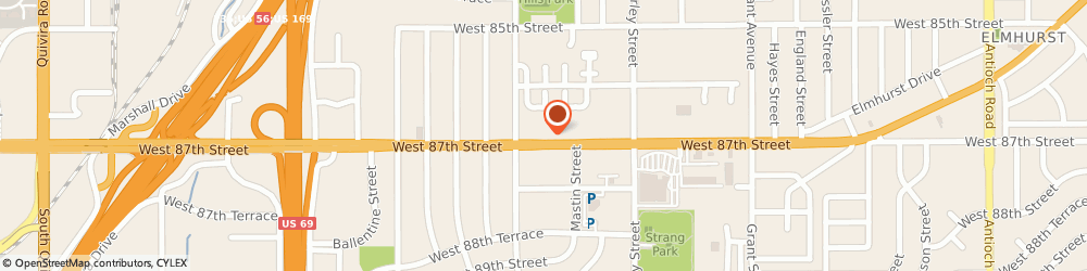Route/map/directions to Copeland Co, 66212 Shawnee Mission, 10100 W 87Th St