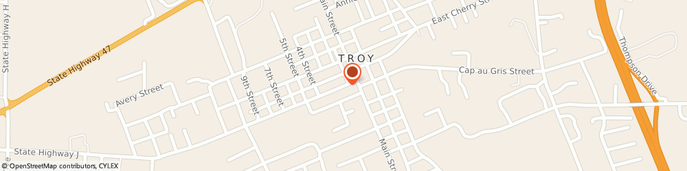 Route/map/directions to Little Caesars Pizza, 63379 Troy, 195 East Hwy 47