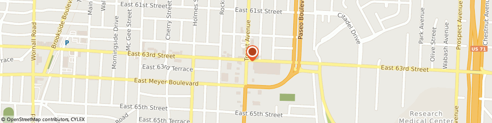 Route/map/directions to US BANK, 64131 Kansas City, 6300 TROOST AVENUE