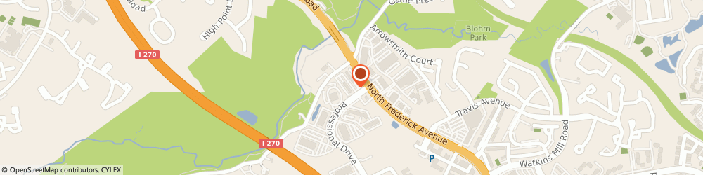 Route/map/directions to KOSA Acupuncture, 20879 Gaithersburg, 4 Professional Dr. Suite 115