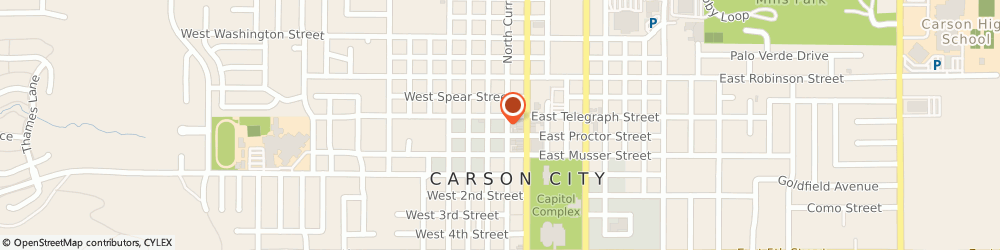 Route/map/directions to Edward Jones - Financial Advisor: Jim Foster, CFP®|ChFC®|CLU®, 89703 Carson City, 308 N Curry St