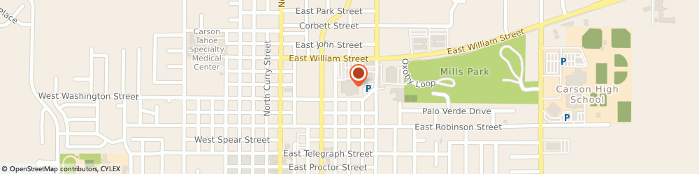 Route/map/directions to Smith's Pharmacy, 89702 Carson City, 599 E Williams St
