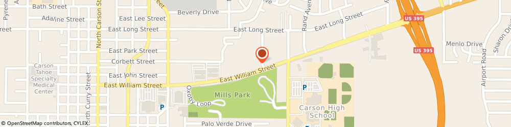 Route/map/directions to United Federal Credit Union, 89701 Carson City, 1350 E. William Street