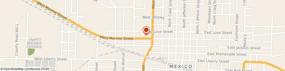 Route/map/directions to Taco Bell, 65265 Mexico, 607 West Monroe Street
