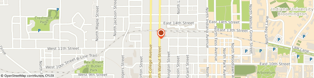 Route/map/directions to State Farm Insurance Company, 47404 Bloomington, 811 N Walnut Street