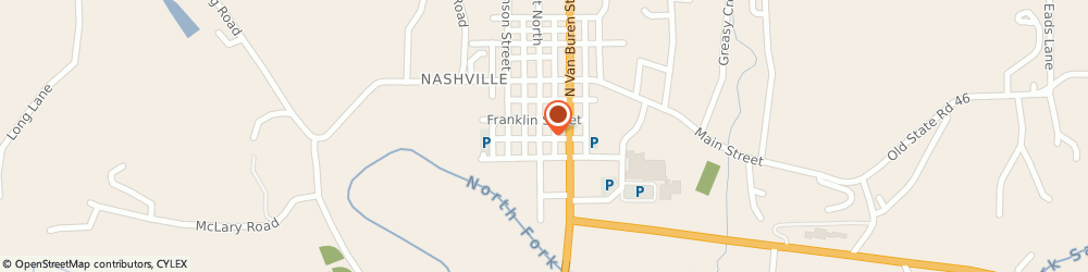 Route/map/directions to Farmers Insurance - Christina McGinley, 47448 Nashville, 145 S Jefferson St