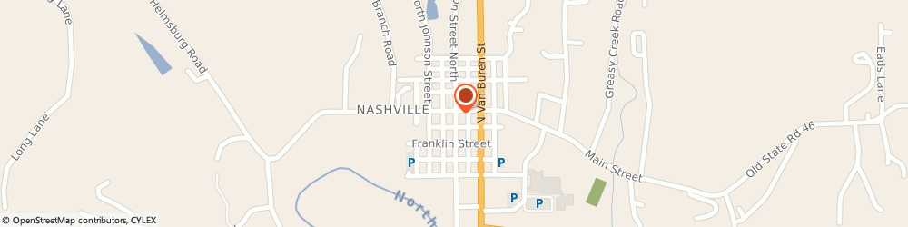 Route/map/directions to Nashville United Methodist Church, 47448 Nashville, 36 JEFFERSON STREET SOU
