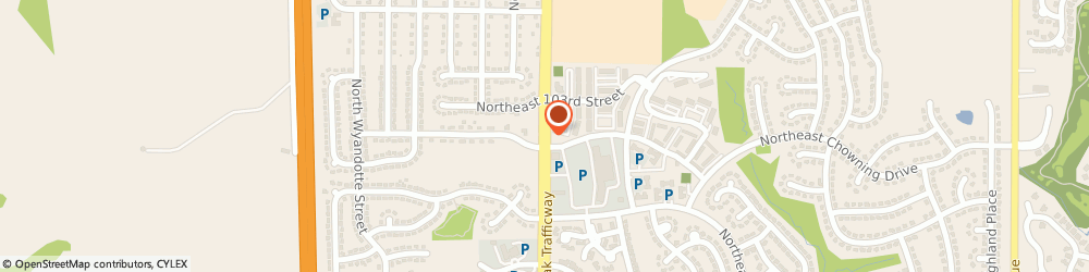 Route/map/directions to US BANK, 64155 Kansas City, 10225 NORTH OAK TRAFFICWAY