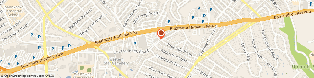 Route/map/directions to Dunkin', 21229 Baltimore, 5303 Baltimore National Pike