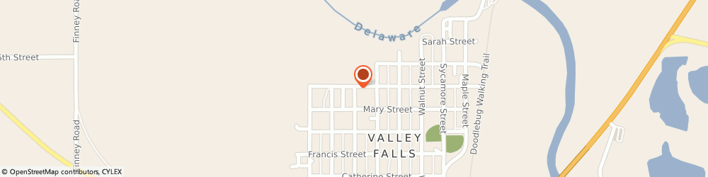 Route/map/directions to Clothes Closet, 66088 Valley Falls, 408 FRAZIER STREET