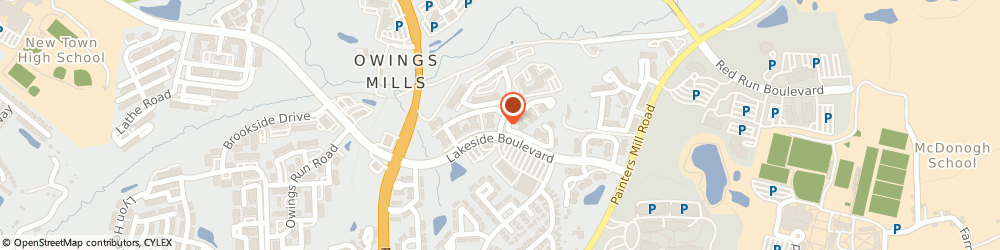 Route/map/directions to Briarwood Apartments, 21117 Owings Mills, 9204 APPLEFORD CIRCLE