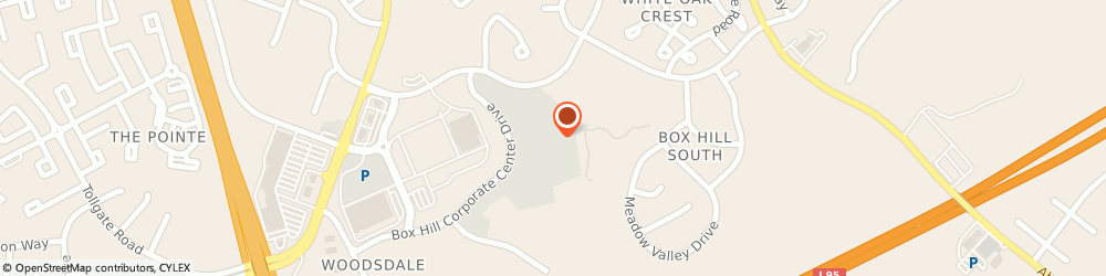 Route/map/directions to Singer Square Medical Center, 21009 Abingdon, 3445 BOX HILL CRPRTE CENTRE DRIVE SUITE E