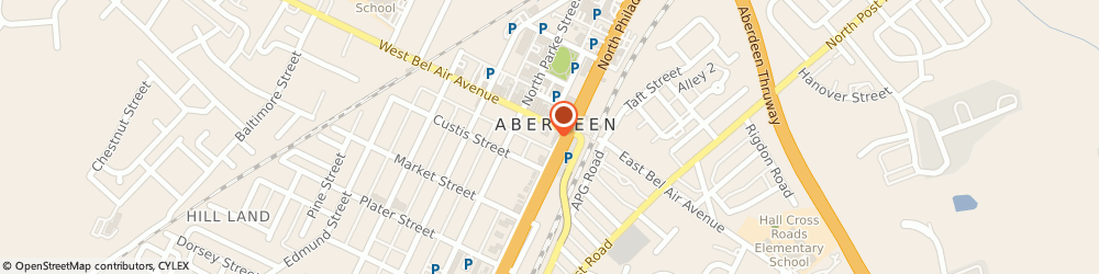 Route/map/directions to Atm Great Western Bank, 21001 Aberdeen, 8 West Bel Air Ave