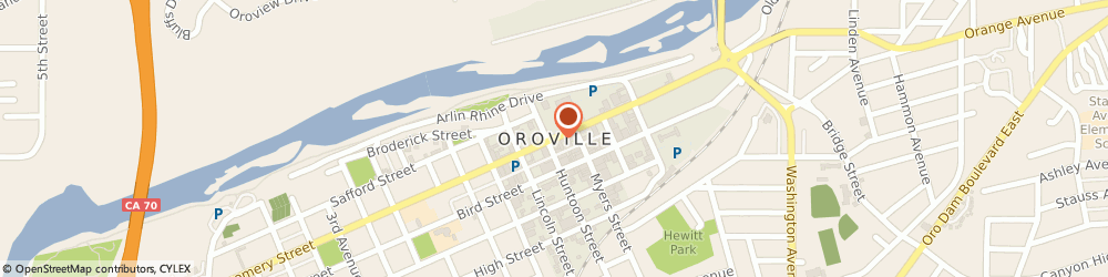 Route/map/directions to Hertz Car Rental Oroville Municipal Airport, 95966 Oroville, 1450 Oroville Dam Blvd East Suite F