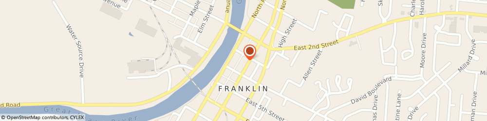 Route/map/directions to Safeco Insurance Agent, 45005-2227 Franklin, 319 S Main St
