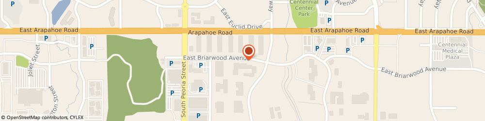 Route/map/directions to Big o Tire Stores - Corporate Office, Englewood, 80112 Centennial, 12650 EAST BRIARWOOD AVENUE
