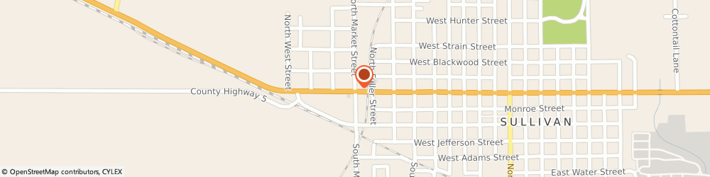 Route/map/directions to SCRIBNER REPAIR CENTER, 61951 Sullivan, 213 S Market St