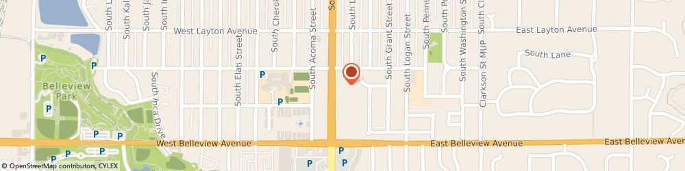 Route/map/directions to Hertz Car Rental, 80110 Englewood, 4940 South Broadway