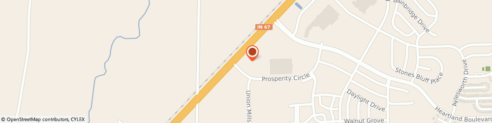 Route/map/directions to Subway, 46113 Camby, 10302 Prosperity Circle