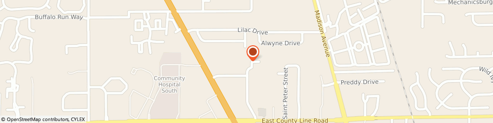 Route/map/directions to Pizza Hut Express, 46227 Indianapolis, 1848 E. Stop 13 Road