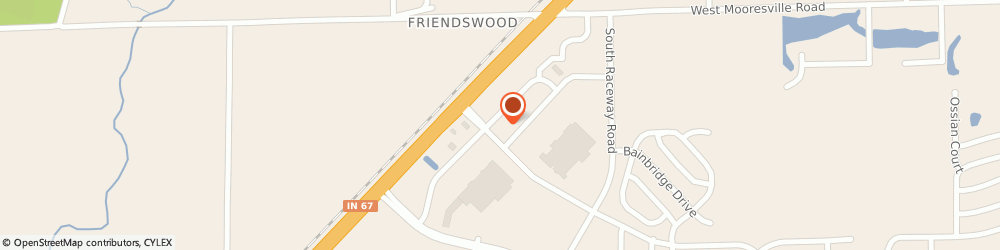 Route/map/directions to Wendy's, 46113 Camby, 8229 Windfall Lane