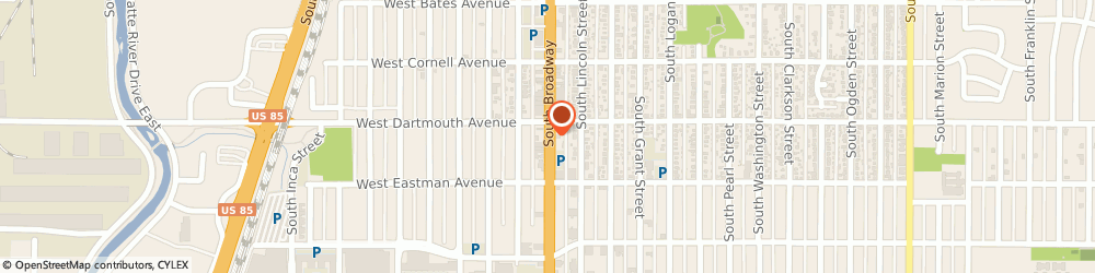 Route/map/directions to Citibank ATM, 80110 Englewood, 3131 S Brdway