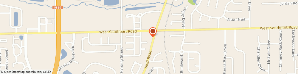 Route/map/directions to Subway, 46217 Indianapolis, 1345 W Southport Rd