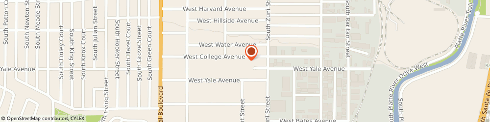 Route/map/directions to Tree Express, 80219 Denver, 2560 West College Ave