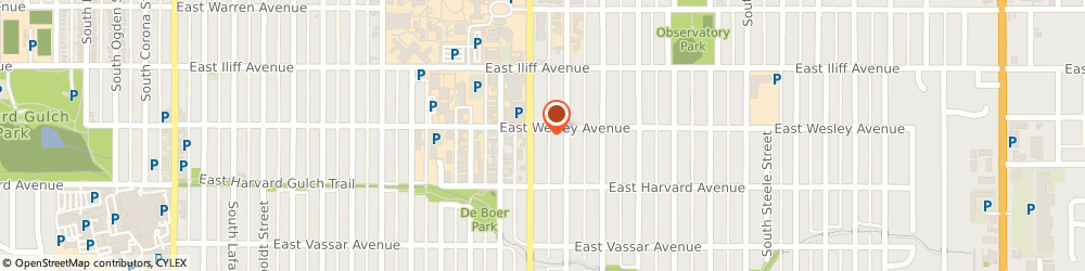 Route/map/directions to 7-Eleven, 80210 Denver, 2410 S University
