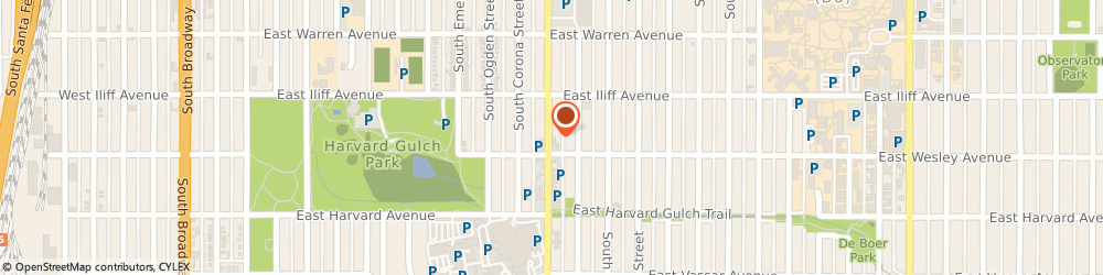 Route/map/directions to Fern & Lois, Florist, 80210 Denver, 2378 S Downing St