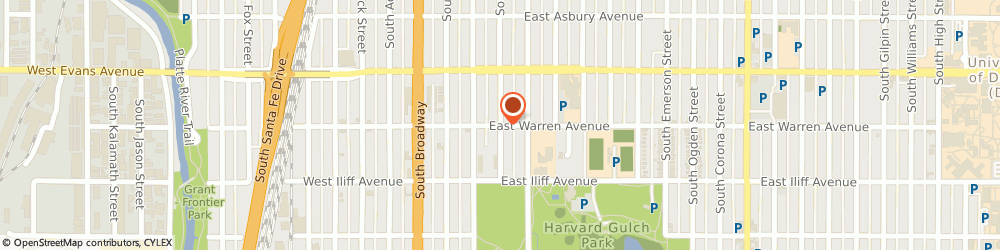 Route/map/directions to John Tobey Event Design, 80210 Denver, 2125 S Grant Street