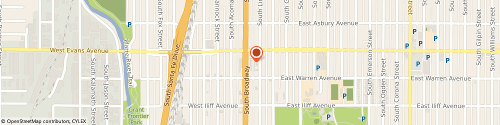 Route/map/directions to Subway Sandwiches & Salads, 80210 Denver, 2120 SOUTH BROADWAY UNIT B