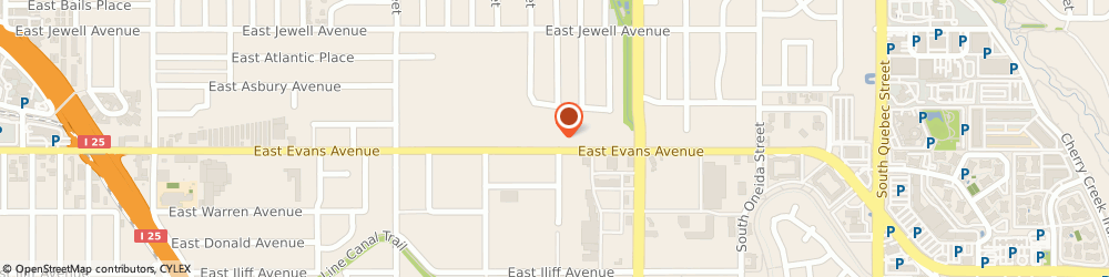 Route/map/directions to Martinizing Dry Cleaning, 80222 Denver, 6265 E Evans Ave