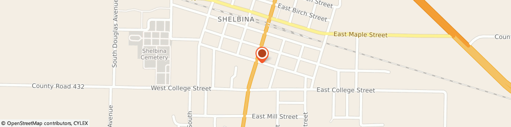 Route/map/directions to US BANK, 63468 Shelbina, 300 SOUTH CENTER STREET