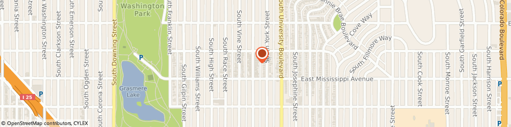 Route/map/directions to Hamilton Insurance Partners, 80209 Denver, 1040 South Gaylord Street