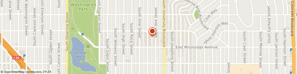 Route/map/directions to The Tended Thicket, 80209 Denver, 1034 SOUTH GAYLORD STREET