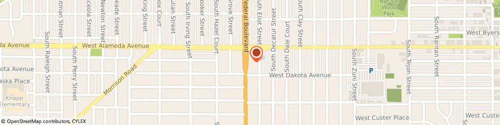 Route/map/directions to Taco Bell, 80219 Denver, 350 South Federal Blvd