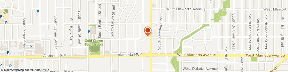 Route/map/directions to Subway, 80226 Denver, 145 S Sheridan Blvd