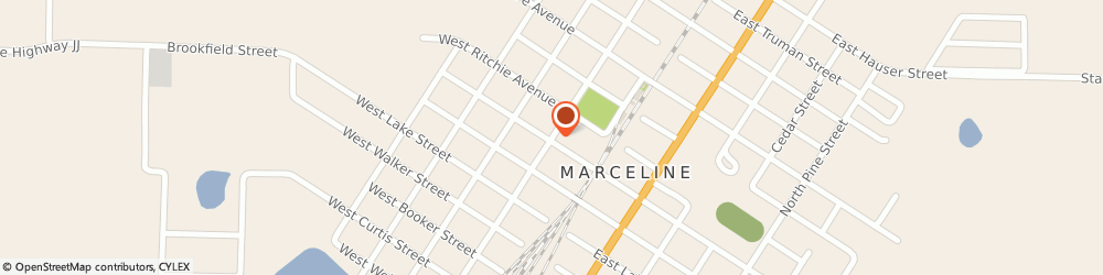 Route/map/directions to US BANK, 64658 Marceline, 100 MAIN STREET
