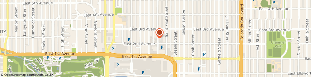 Route/map/directions to Cherry Creek Watch Company, 80206 Denver, 231 Milwaukee Street