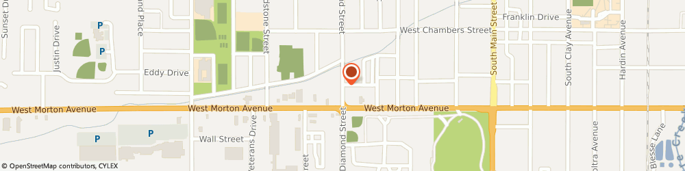Route/map/directions to Jay Huston Insurance, 62650 Jacksonville, 814 S Diamond St # A